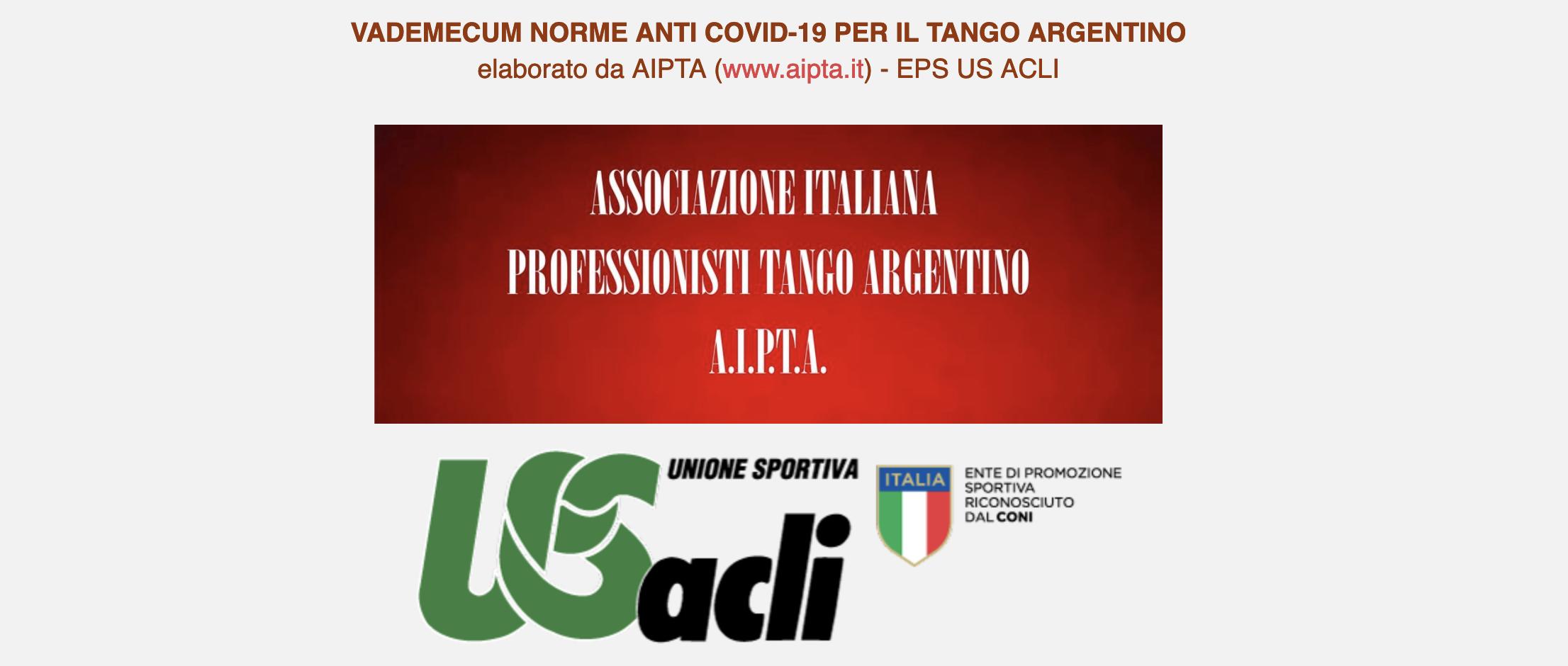 VADEMECUM NORME ANTI COVID-19 PER IL TANGO ARGENTINO